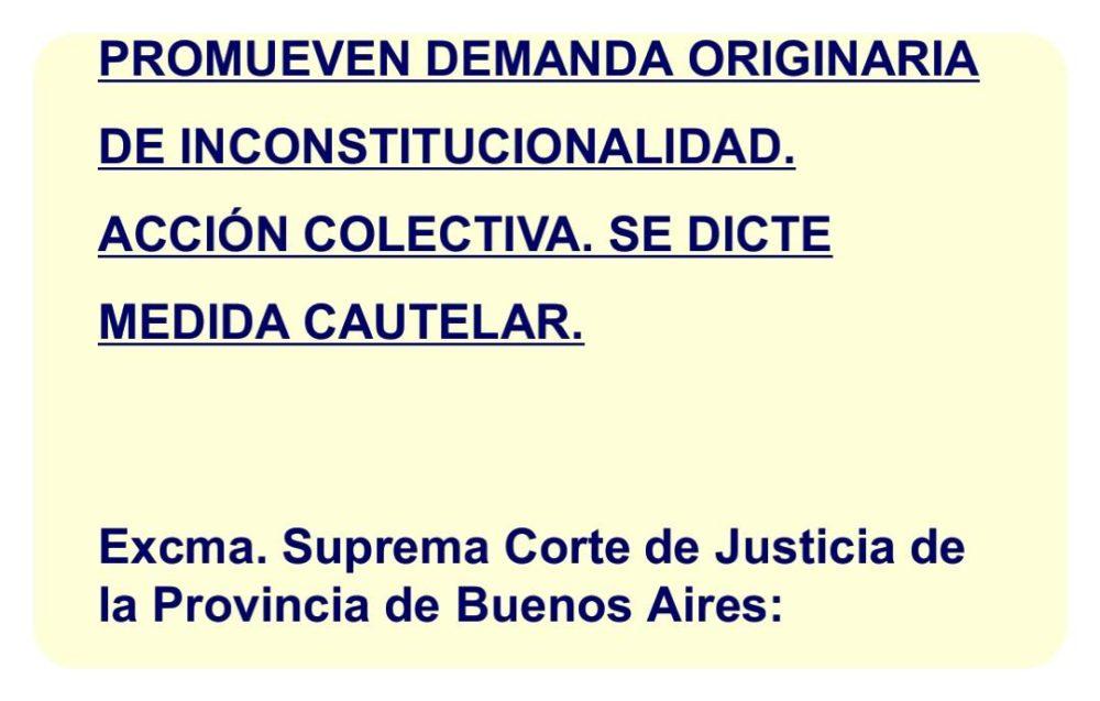 Una ley inconstitucional