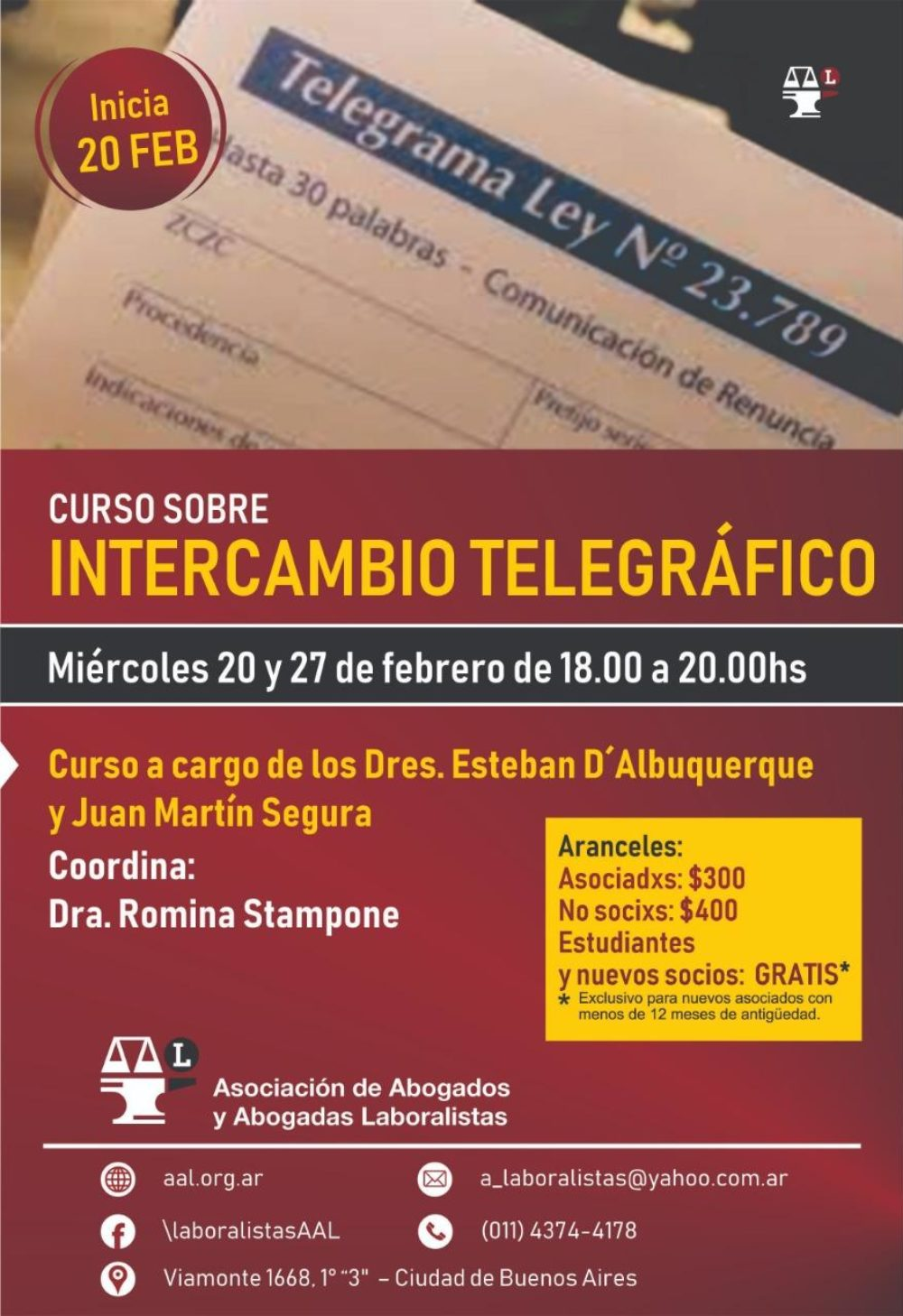 Curso de intercambio telegráfico