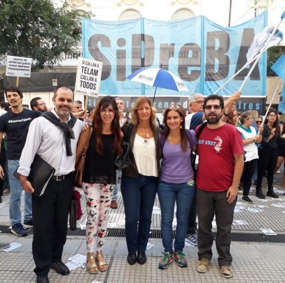 Con los trabajadores de Télam y contra la intromisión política en la justicia laboral