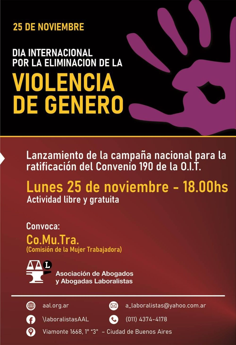Campaña por la ratificación del Convenio 190