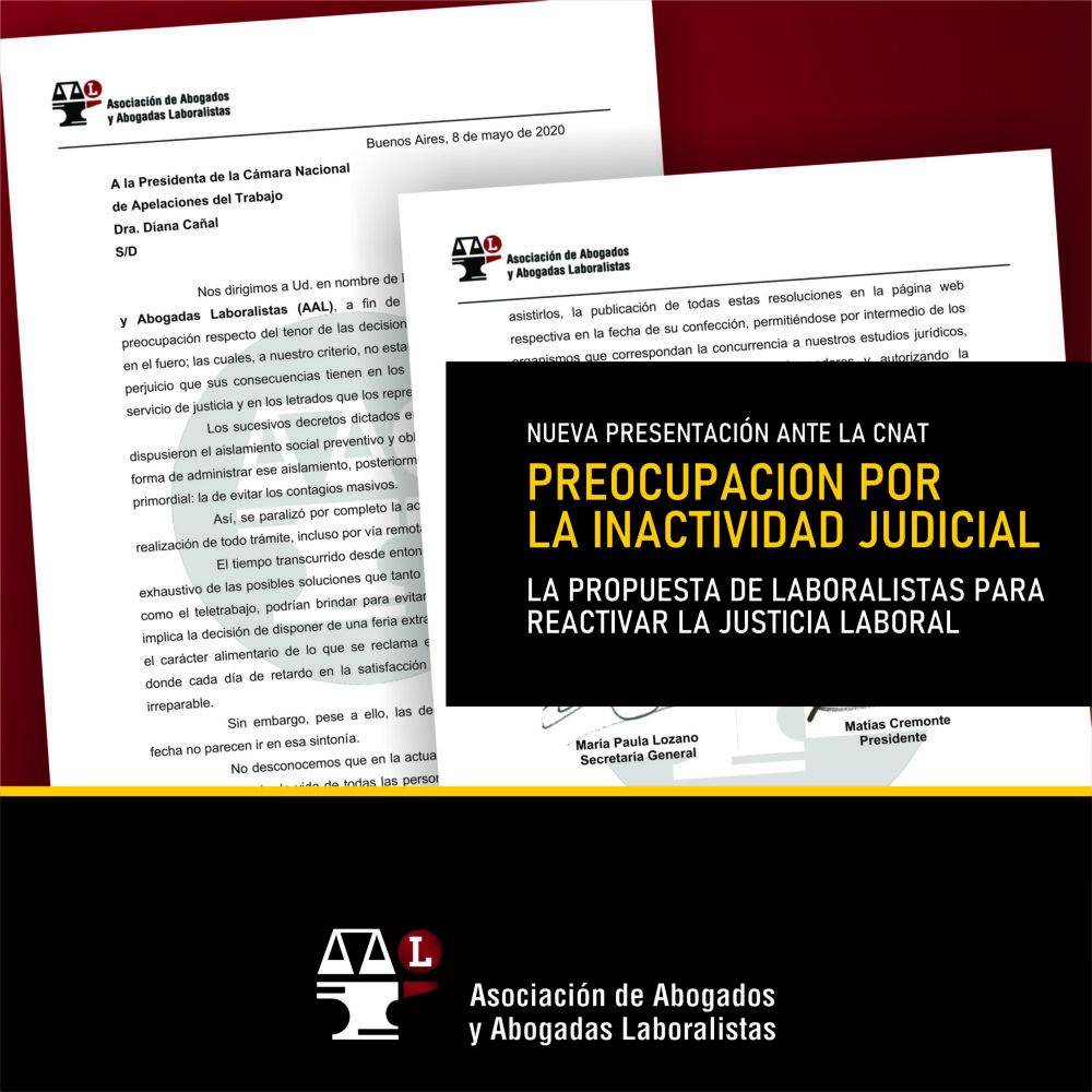 Preocupación por la inactividad judicial
